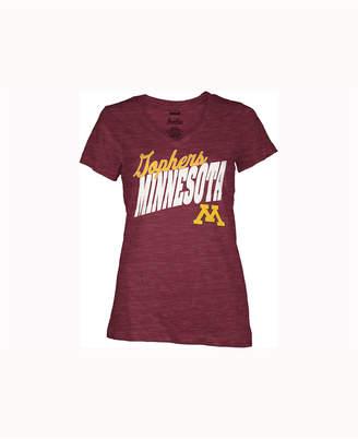 Pressbox Women's Minnesota Golden Gophers Gander V-Neck T-Shirt