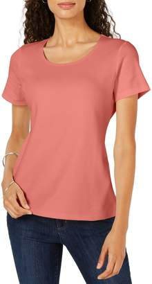 Karen Scott Short-Sleeve Scoop Neck Top