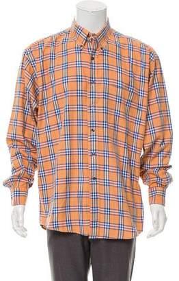 Burberry Check Pattern Woven Shirt