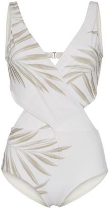 Johanna Ortiz grassland open back printed swimsuit