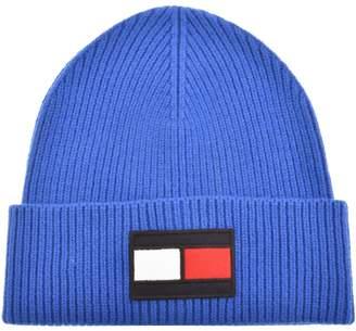 b75fb45ac3d Tommy Hilfiger Flag Logo Beanie Hat Blue