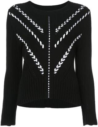 Carolina Herrera ribbon detail sweater