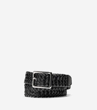 Cole Haan 32mm Tubular Woven Leather Belt
