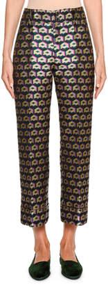 Double J Hendrix Cubi Verdi Geometric High-Rise Trouser Pants