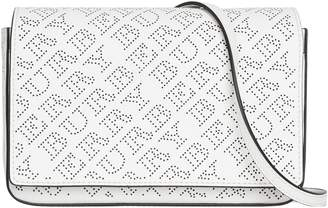 Burberry Hampshire Perforated Leather Crossbody Bag