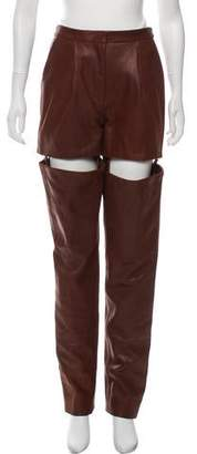 Y/Project Convertible High-Rise Leather Pants