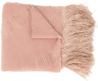 Valentino ostrich feather finished scarf