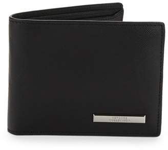 Versace Foldover Saffiano Leather Wallet