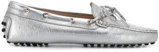Tod's rubber embellished flat loafers