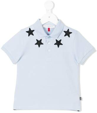 Givenchy Kids star patch polo shirt