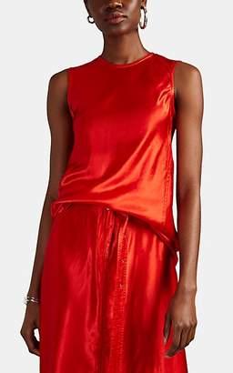 SIA Sies Marjan Women's Washed Satin Sleeveless Top - Red