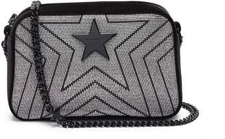 Stella McCartney 'Stella Star' strass velvet mini crossbody bag