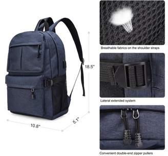 Vbiger Shoulder Bag,Oxford Backpack Large Capacity Computer Backpacks Lightweight School Shoulder Bag Casual Daypack with Charging Port