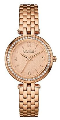 Bulova Women's Quartz Stainless Steel Casual Watch, Color:Rose Gold-Toned (Model: 44L175) $60 thestylecure.com