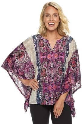 Dana Buchman Women's Print Poncho Tunic