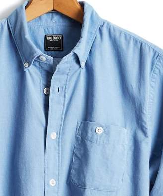 Todd Snyder Micro Corduroy Button Down Shirt in Light Blue