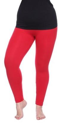 White Mark Women's Women's Plus Size Super-Stretch Solid Leggings