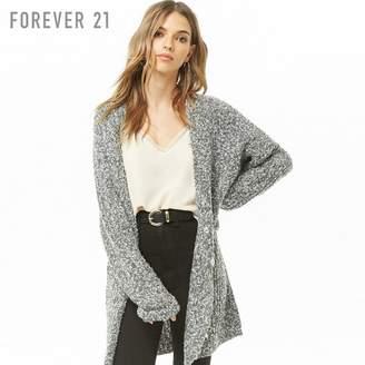 Forever 21 (フォーエバー 21) - Forever 21 マーブルブークレニットロングカーディガン