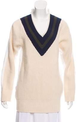 Sacai Luck V-neck Long Sleeve Sweater