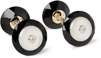 Mother of Pearl Trianon - 18-Karat Gold, Onyx, Mother-of-Pearl and Diamond Cufflinks