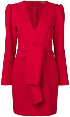 MSGM V-neck crepe dress