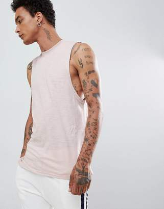 Mennace Nude Side Signature Tank