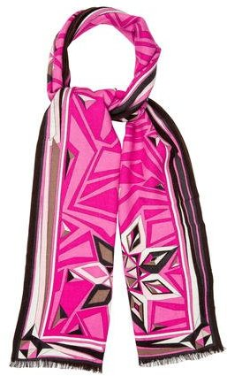 Emilio Pucci Emilio Pucci Wool-Blend Abstract Scarf