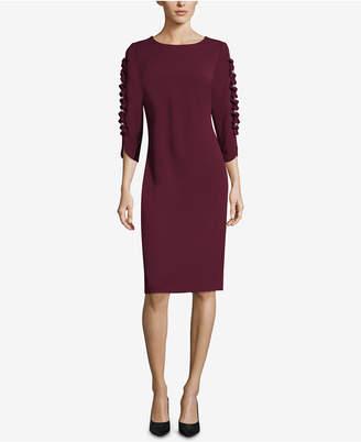 ECI Ruffle-Trim Sheath Dress