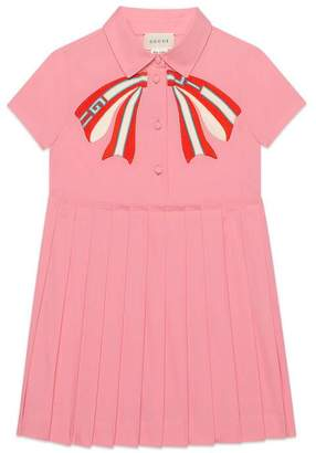 Gucci Children's poplin dress with bow
