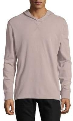 John Varvatos Long-Sleeve Cotton Hooded Pullover
