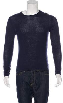 Theory Cashmere & Silk Crew Neck Sweater