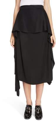 J.W.Anderson Draped Side Asymmetrical Skirt