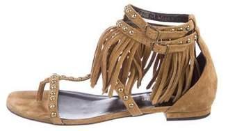 Saint Laurent Studded Fringe Sandals
