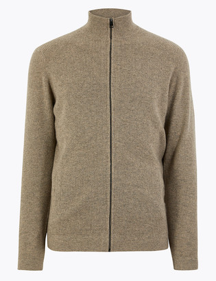 Marks and Spencer Pure Cashmere Zip Through Cardigan