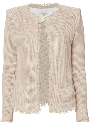 IRO Azure Collarless Knit Jacket $378 thestylecure.com