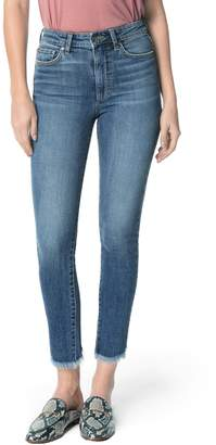 Joe's Jeans Charlie High Waist Frayed Split Hem Ankle Skinny Jeans
