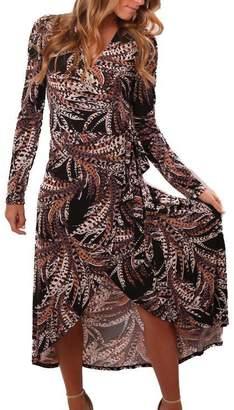 Veronica M Pattern Wrap Dress