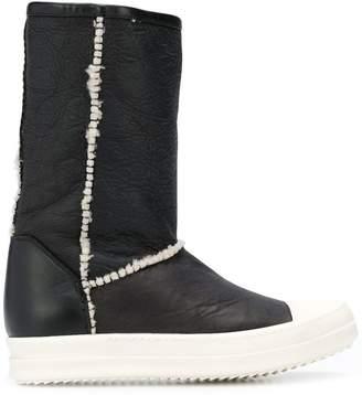 Rick Owens wool trim boots