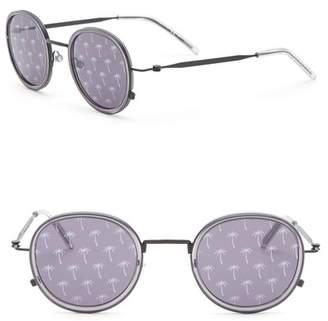 Tomas Maier 46mm Round Printed Sunglasses