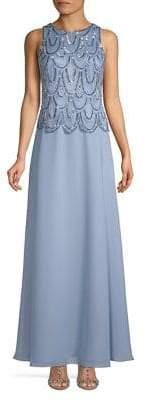 J Kara Embellished Evening Gown