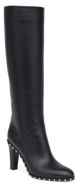 Valentino Soul Studded Leather Tall Boots