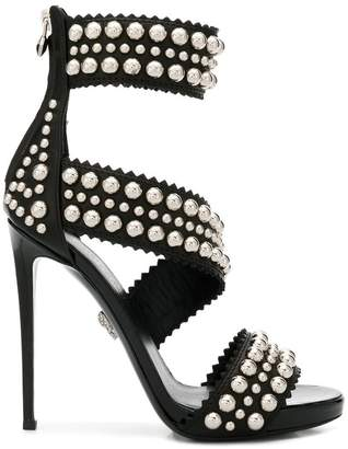 Philipp Plein rounded stud sandals