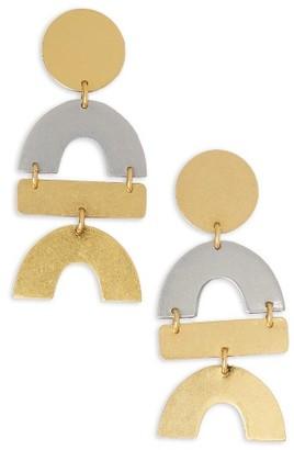 Women's Madewell Flatform Statement Earrings $34 thestylecure.com