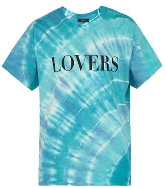 Amiri Lovers Print Tie Dye T Shirt - Mens - Blue