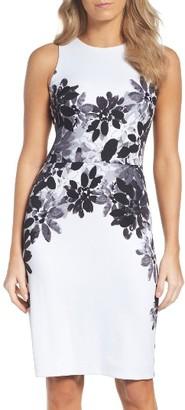 Women's Maggy London Placed Print Scuba Dress $128 thestylecure.com