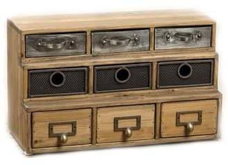 Bungalow Rose Streetsboro Industrial Reclaimed 9 Drawer Accent Chest
