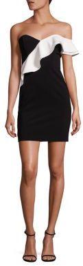 Parker Imani Strapless Ruffle Dress $325 thestylecure.com