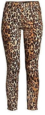 7 For All Mankind Women's Cheetah Print Skinny Ankle Jeans