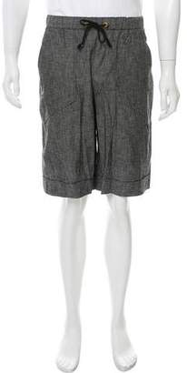 Robert Geller Chambray Jogger Shorts