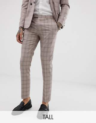 Twisted Tailor super skinny suit pants in mini check